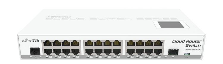 Mikrotik CRS125-24G-1S-IN Modeli 24 Port Gigabit Switch