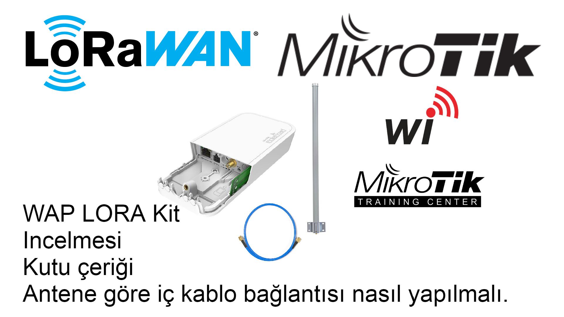 LoraWAN WAP Lora Kit İncelemesi , Anten bağlantı konnektörü yapılandırması